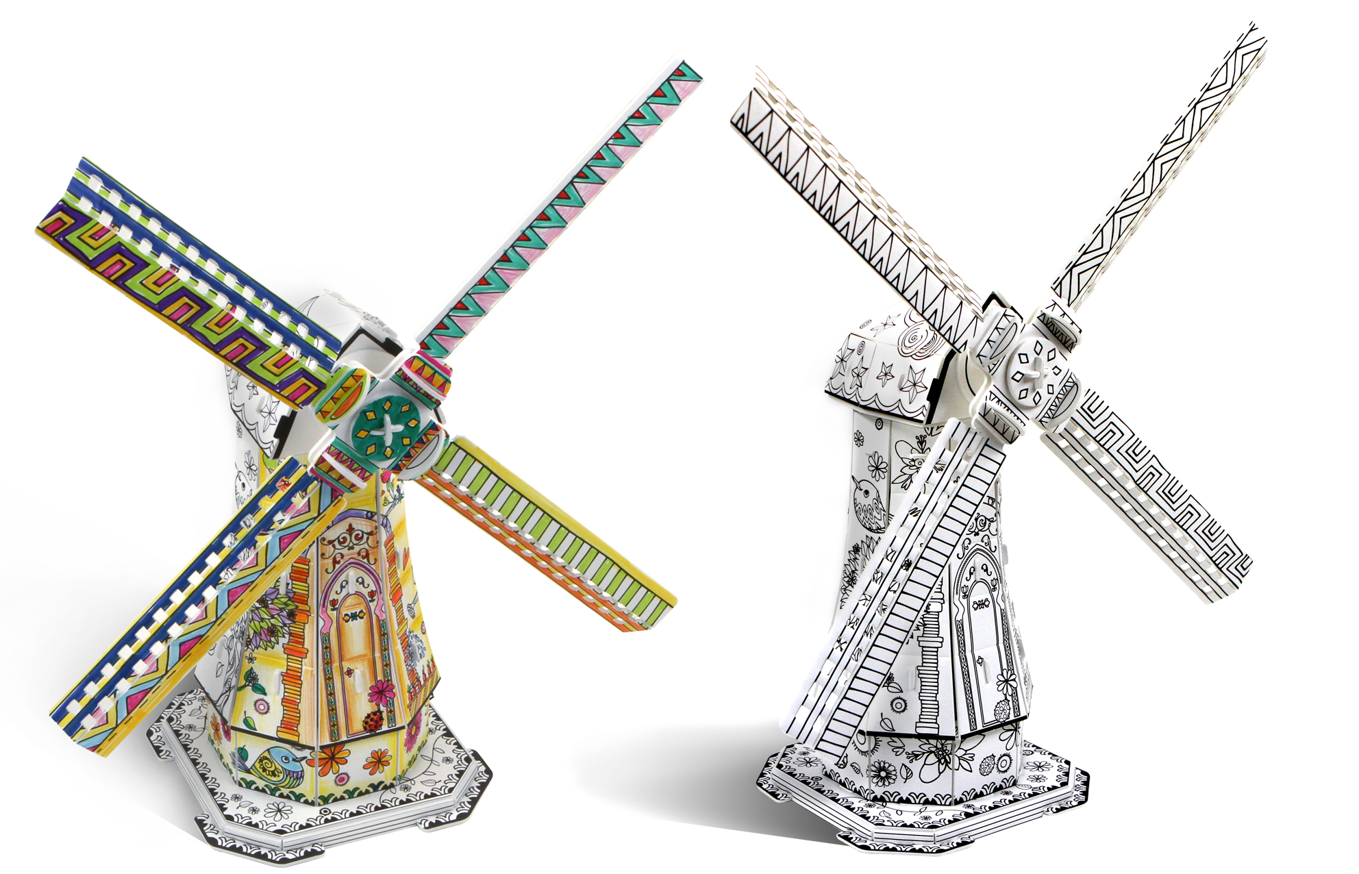 Coloring pages Dutch Windmills | mills | tinkering | creative ... | 1276x1984